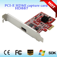 Cheap Selling 1080p 30fps One Channel PCIE Full HD Video Audio Capture Card HDMI Media PCI Card