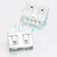 AF A-type USB Female Socket Short Body No Curling 10.0mm Long 180 Degree Vertical Type(China)