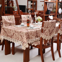100% cotton quality fashion dining table cloth round table cloth tablecloth table runner cushion chair covers set customize