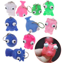 2Pcs/lot Mini Cute Squeeze Antistress Toy Pop Out Eyes Doll Stress Relief Toys Random