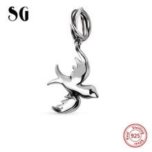 Fit Authentic pandora Bracelet 925 Silver Original Collect The fly birds Charm Bracelets Antique Animal Beads Jewelry Gifts(China)