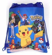 1PCS Pokemon Go Decoration Birthday Party Soy Luna Non-Woven Fabric Drawstring lovely Gift Bags Pikachu\Ninja Turtle Supplies
