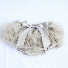 skirt shorts Baby Cotton Chiffon Ruffle Bloomers cute Baby Diaper Cover Newborn Flower Shorts Toddler fashion Summer Satin Pants(China)