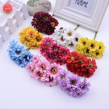 6pcs Silk Ornate Daisy Artificial Flowers For Wedding Home Decoration Chrysanthemum Mariage Flores Garland Accessories Flowers(China)