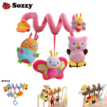 Wholesale 5 pcs Sozzy Musical Stars Multifunctional Car bed Hanging Bed Bell Baby toys Educational Toys Rattles for Kids