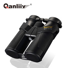 QANLIIY New High Power Zoom 10-10x42 Binoculars Bak4 Prism Ten times magnification Ultra clear telescope for Camping hunting(China)