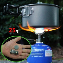 BRS Portable Mini Camping Titanium Stove Outdoor Gas Stove Survival Furnace Stove Pocket Picnic Cooking Gas Burner brs-3000t