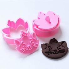 New Promotions 2pcs DIY Fun Marie cat Cartoon Fondant Baking Cake Cookie Cutter Mold Mould(China)