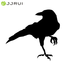 JJRUI Free Shipping Crow Raven Blackbird Vinyl Decal Sticker Bird Laptop Window Choose Color wall stickers