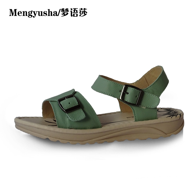 MengyushaSummer new slope with flat shoes for womens sandals<br>