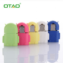 Universal OTG Android Robot Shape Micro USB To USB Converter OTG Adapter For Samsung For Huawei For Xiaomi Mobile Phone Cable