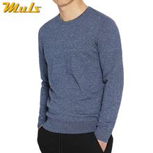 7Colors Sweater Pullovers Men 100% Merino Wool Sweater Jumpers Man Winter Warm Mercerizing Fleece Male knitwear Autumn Plus Size(China)