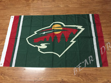 NHL Minnesota Wild flag 3ftx5ft Banner 100D Polyester Flag metal Grommets(China)