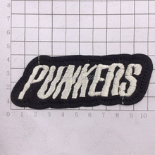 Letter Punk Rock Music Logo Iron on Patches Badge Stickers Embroidery Patch Applique Free Shipping PTA511(China)