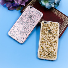 Glitter Gold Sliver Foil TPU Soft Protective Case For iPhone 7 7plus 8 8Plus 6 6s 5 5s SE 6P 6SPlus BlingBling Phone Covers(China)