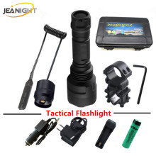 5 modes led T6 L2 Tactical flashlight Torch Flashlights Lantern XM-L2 torch led LED flash light +scope Mount+remote switch(China)