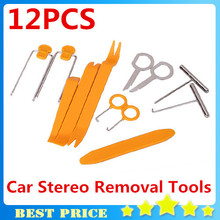 Car Dvd Player Stereo Refit Tool Kit 12pcs Car Door Tools Interior Plastic Trim Panel Dashboard Installation Removal Pry 0807