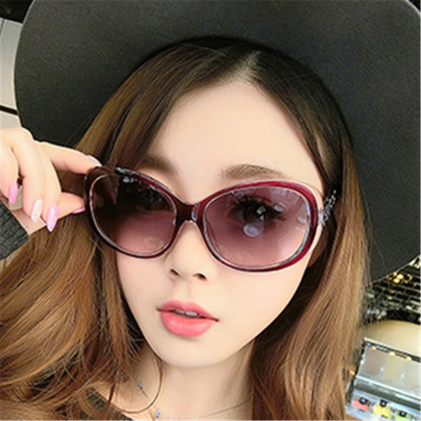 Elegant Style Women's Sunglasses Vintage Fashion Women Brand Name Designer Sun Glasses Retro Oval Glasses Goggle Custom(China)