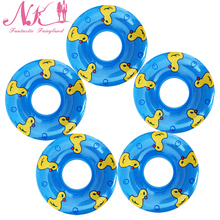 NK 2017 New 5 Pcs Blue Swimming Buoy Lifebelt Ring For Barbie Doll Accessories For Monster toys dolls,Baby Toys best Gift 27B