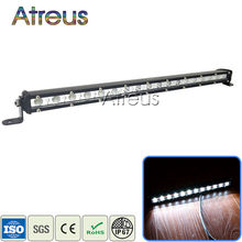 Atreus 1X 19Inch 54W Car Single Row LED Light Bar 12V DRL For ATV 4X4 Truck 4WD Offroad Trailer Driving Fog Lamp car accessories