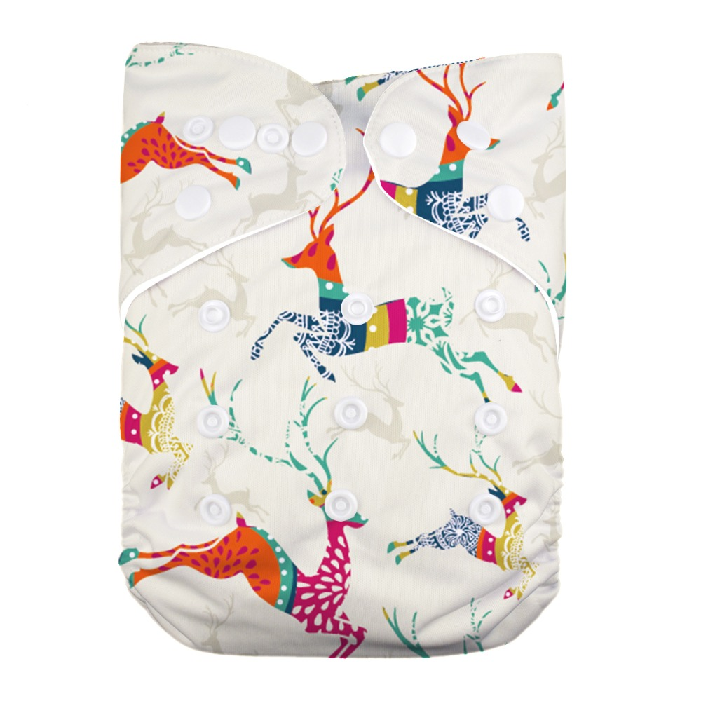 1 PC Reusable Washable One Size Diaper Cover Baby Pocket Cloth Diaper
