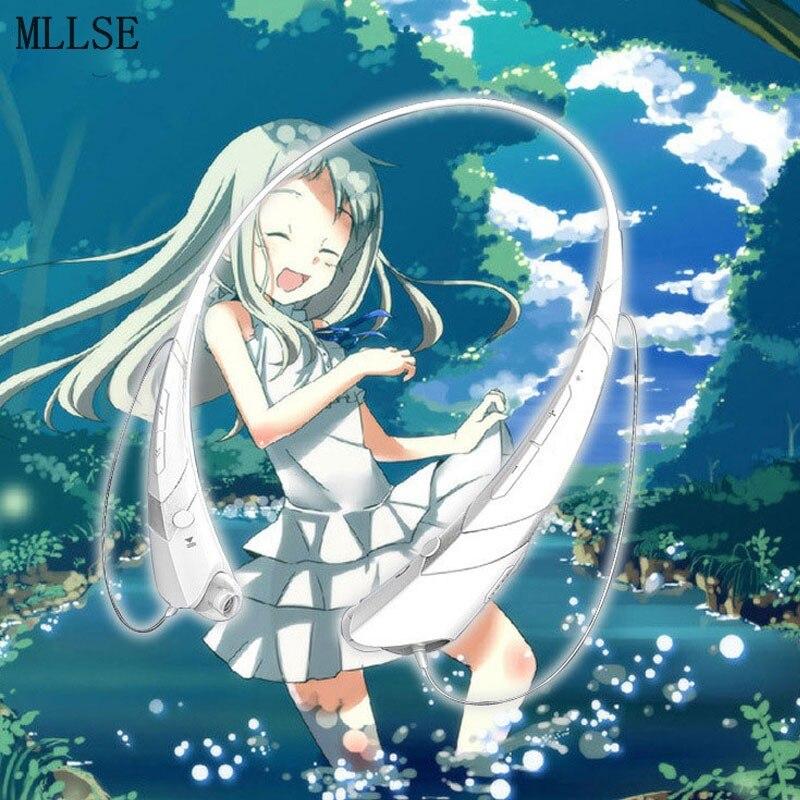 MLLSE Anime Honma Meiko Menma Neckband Bluetooth Headphone Earphone Wireless Stereo Sport Headset for Iphone Samsung Xiaomi MP3<br>