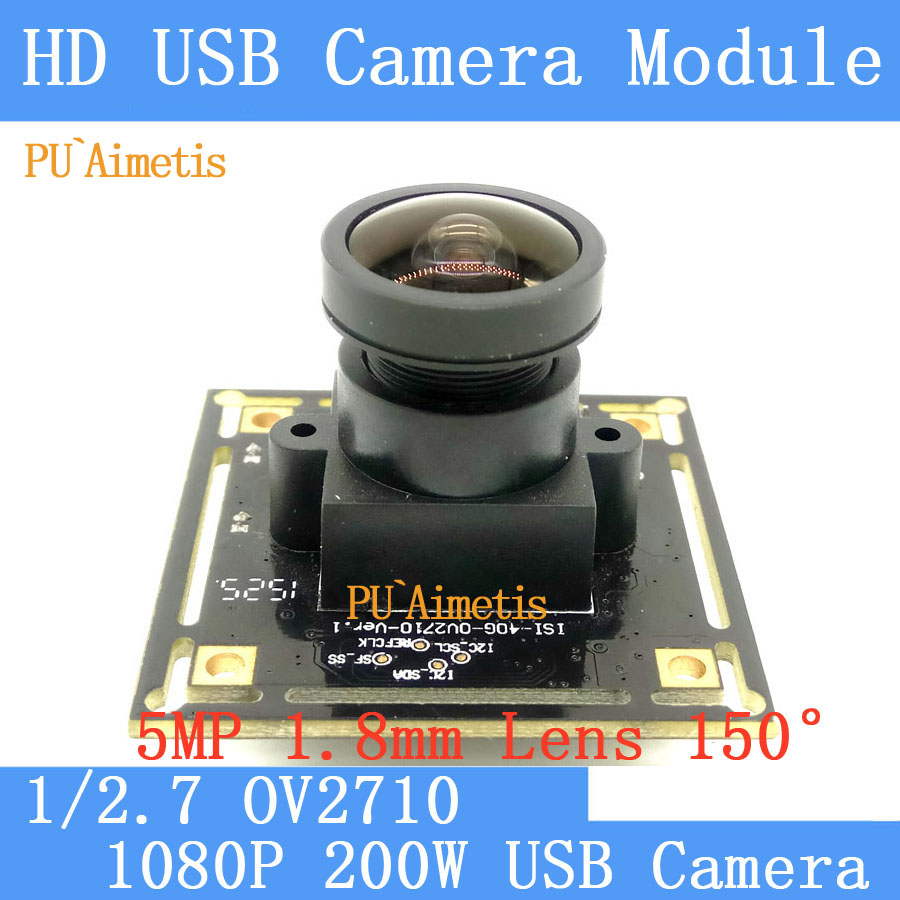 PU`Aimetis 30fps  2MP Surveillance camera 1080P MJPEG  High Speed OV2710 Mini CCTV Android Linux UVC Webcam USB Camera Module<br>