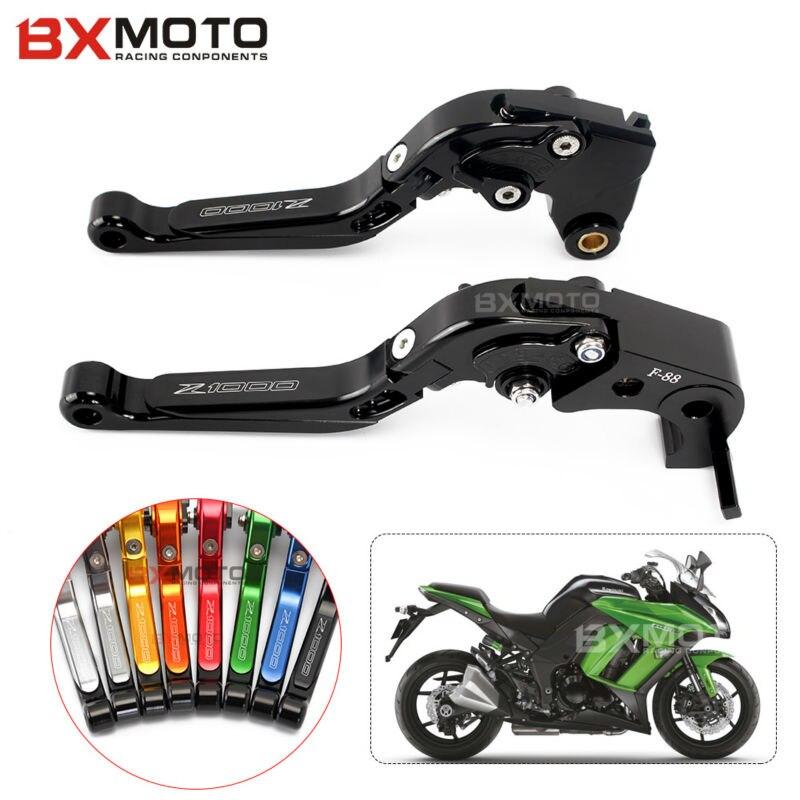 For Kawasaki Zx6r 636 Zx10r Z1000sx Ninja 1000 Z1000 Z750r Motorcycle Accessories Black Cnc Aluminum Brake Clutch Lever Set<br>