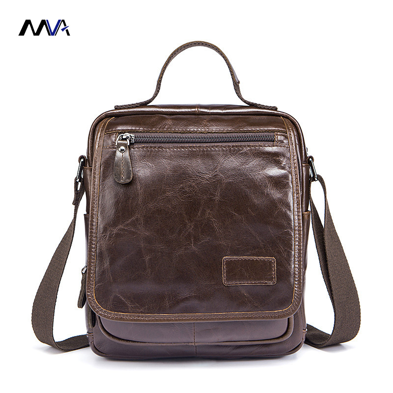 MVA Men Genuine Leather Bags Messenger Bag Leather Men Handbag Vintage Shoulder Crossbody Bags Male Small Bolsa<br>