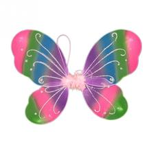 Beautiful 10 Colors Girls Fairy Colorful Butterfly Wings Show Props Fancy Dress Kids Halloween Party Dressing Up Costume(China)