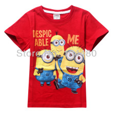 Fashion Summer Despicable Me Short Sleeve Baby  boys T Shirt Cartoon Print Kids Children Clothes Tees Tops boys T shirts