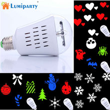 LumiParty Novelty LED Projection Lamp Party Stage Bulb Light For Christmas Halloween Valentine's Day Holiday Decoration(China)