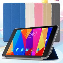 Folio PU leather case folding stand cover for  8 Inch CUBE T8 Tablet Dirt-resistant 5 color