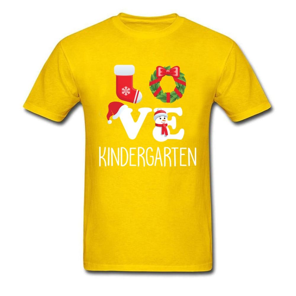 Love Kindergarten Shirt Teacher Christmas Gift_yellow