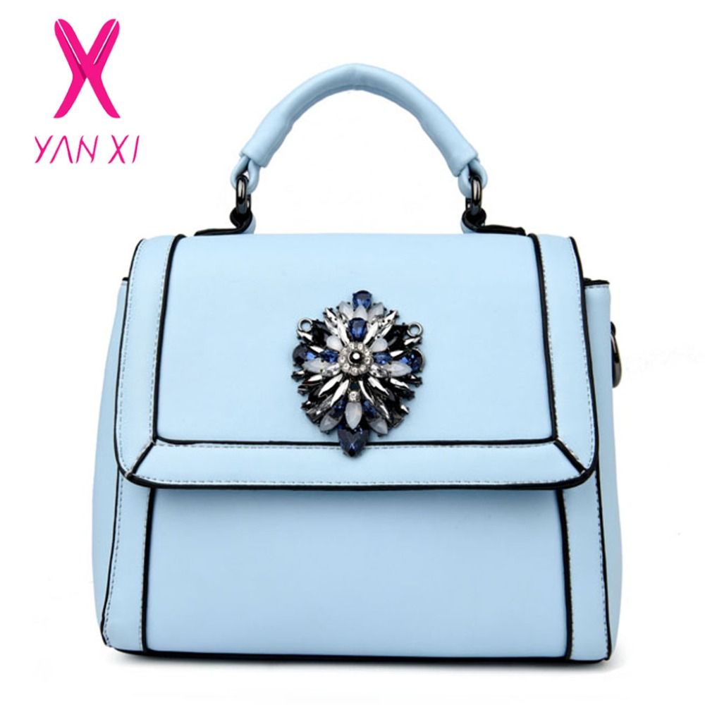 YANXI 2017 New Hot Sale Autumn And Winter fashion elegant women tote solid High-quality PU leather luxury Messenger shoulder bag<br><br>Aliexpress