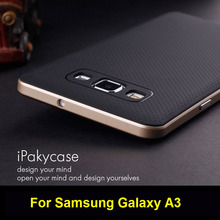 For Samsung Galaxy A3 A5 A7 case,Ipaky Brand PC Frame + Silicone back cover cellphone case for Samsung galaxy A3 2017/A5 A7 2016