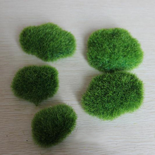 long fiber/artificial moss/ plastic moss/ fairy garden/terrarium decoration/gnome/T009(China)