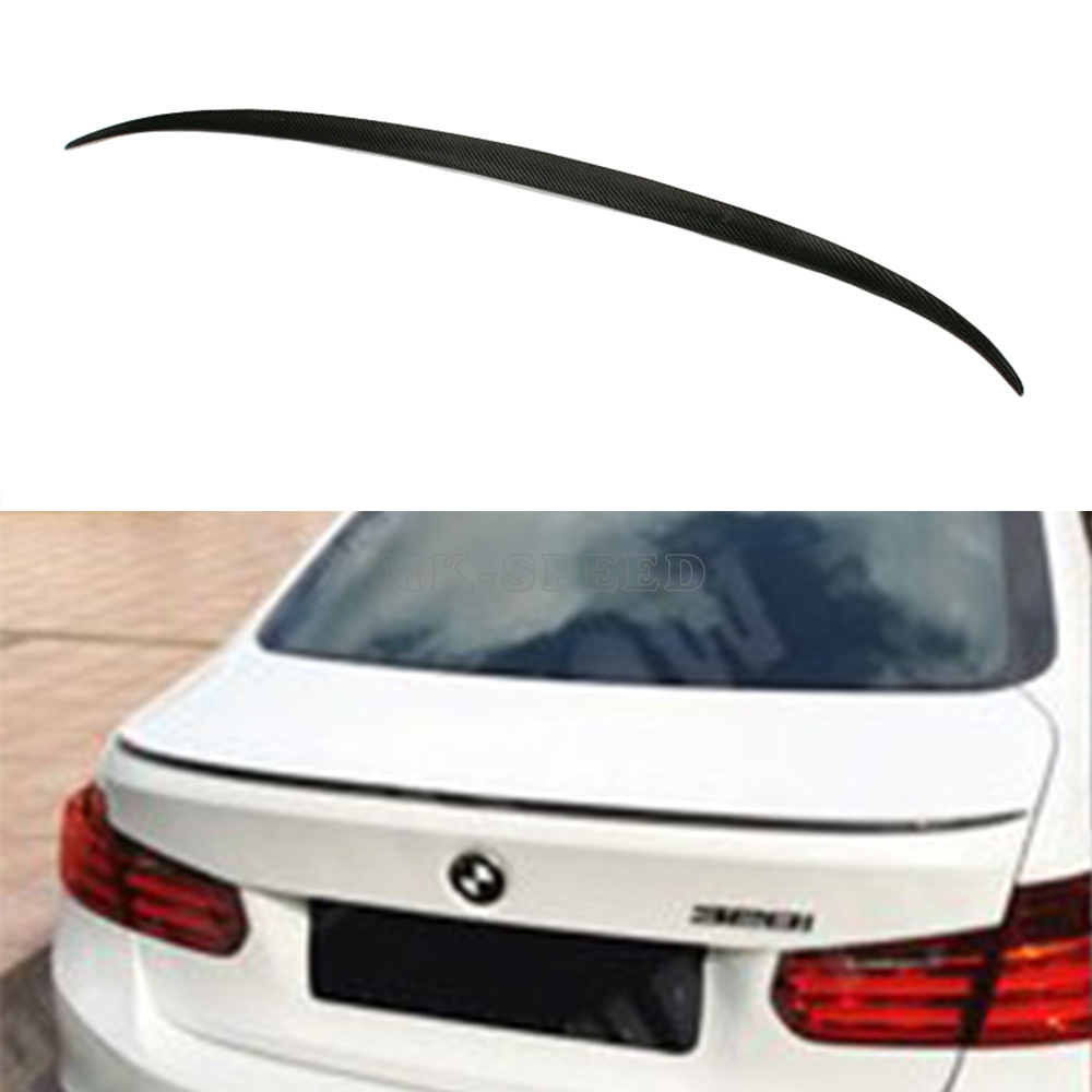F30 M Style Carbon Fiber Car Rear Trunk boot Lip Spoiler Wings for BMW F30 2012UP<br><br>Aliexpress