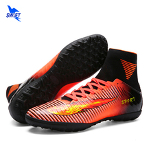 Size 35-44 High Ankle Turf Futsal Boots 2017 Top Superfly Soccer Shoes Men Cheap Original Indoor Football Cleats Women Futzalki(China)