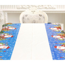 The newest One-time Merry Christmas Rectangle PVC Tablecloth Cartoon Wallpapers 110 * 180cm Holiday decoration(China)