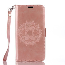Ringcall Filp Cover Magnetic Phone Case for Motorola G4 G4 Plus Mandala Flower Cell Phone Case Datura Floral Wallet Purse Case