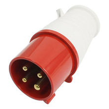 AC 380-415V 32A IP44 3P + E IEC309-1 Industrial Plug Connector Red White(China)