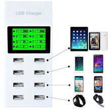 EU Plug 8 Port USB Home Travel Wall AC Charger Fast Charger Power Universal Adapter For Samsung Galaxy iphone 7 HTC Freeshipping(China)