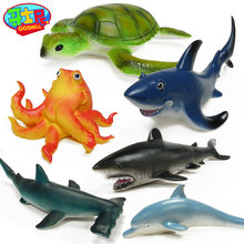1pcs PVC Plastic Animal Play Model Action Figures for Children Shark Humpback Dolphin Boys Collections Toy Figure Children Gift