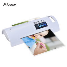 Aibecy A4 Hot Photo Laminator Paper Film Document Thermal Paper/Document Laminators Quick Warming Up Fast Laminating Speed(China)
