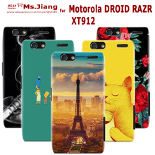 Matte Transparent Flexible Hard Back Cover Case For Motorola DROID RAZR XT912 XT910 Phone Cases For MOTO maxx Skin Plastic Cover