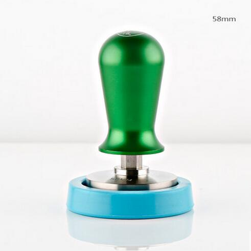 Constant pressure 1 pc stainless steel Coffee tamper Green  58mm espresso coffee pressure powder Excellent quality can make logo<br>