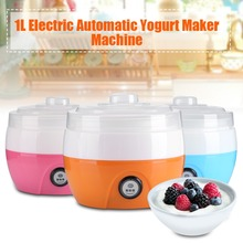 Original 1L Household Electric Automatic Yogurt Maker Machine Plastic Liner Yoghurt DIY Tool Kitchen Appliances(China)