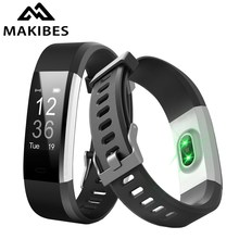 "Original ID115 Plus Heart Rate Smart Band 0.96"" OLED Makibes Smart Bracelet Bluetooth Call Reminder Multi-sport Fitness Tracker(China)"