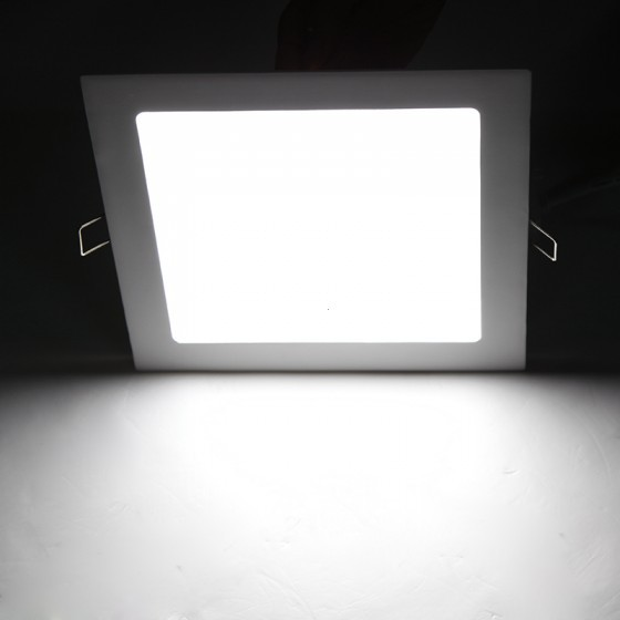 Free shipping 18W AC 86-265V Ultra Thin Square Ceiling Panel Light Wall Recessed Down Lamp 1600LM SMD2835 LED Pure White<br><br>Aliexpress